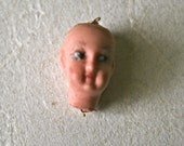 Tiny Painted Porcelain Doll Head for Altered Art, 3D Collage and Doll Making