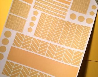 Mustard Chevron Plum Paper Planner
