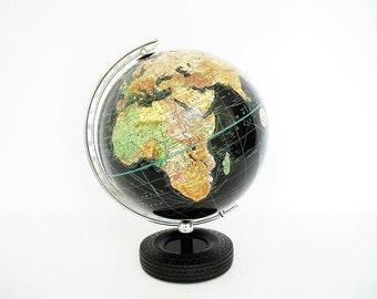 "Vintage World Globe 10"" Weber Costello Advertising Kelly Springfield Tire Base RARE"