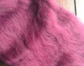 1oz Merino Burgundy Wool Spinning Fiber Limited Edition