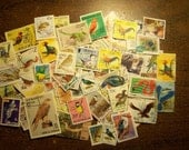 Bird Stamps - Lot of 100 Postage Stamps Featuring Birds - Worldwide - Vintage to Modern