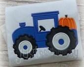 Fall Pumpkin Tactor Shirt ~ Boy's Autumn/Fall Shirt ~ Fall Pumpkin Shirt ~ Pumpkin T Shirt ~ with Free Personalization