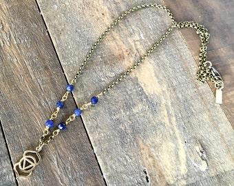 Lapis Lazuli, Sixth Chakra Necklace