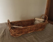 Fabulous High Quality Vintage wicker bread basket / My French Home / My Vintage Home
