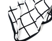 Newborn Swaddle - Black Grid