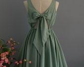 A Party V - Lolita Dress Sweet Lolita Backless Dress Sage Green Dress Sage Green Bridesmaid Dress Sage Green Party Dress Summer Dress XS-XL
