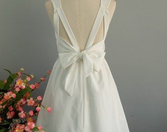 White dress white backless dress white party dress white prom white cocktail dress white bridesmaid dress