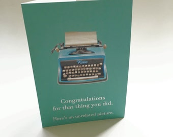 Funny Congratulations Card | Greeting Card | Congratulations card | graduation card | funny card for him | encouragement card | card for her