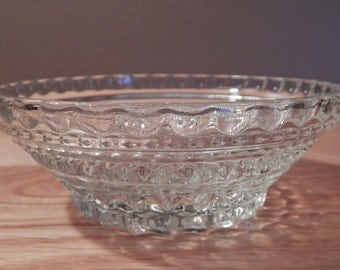 Vintage Cut Glass Small Nut/Serving Bowl