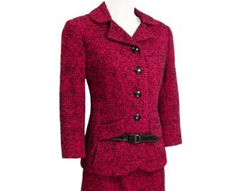 Vintage Wool Suit, Don Loper Beverly Hills, Couture, Exquisite Craftsmanship, Rare, Collectible, Vintage 1950s