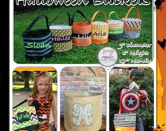 Halloween Bucket Monogrammed Halloween Bucket Personalized Halloween Bucket