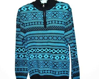 Vintage Sweater Geometric Retro