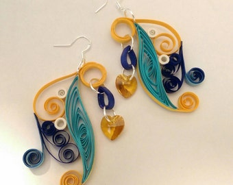 Quilled Wave Earrings