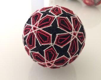 Into The Dark Temari Ball - Japanese folk art
