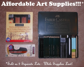 Discount Professional Faber-Castell 29pc. Monochrome Graphite Drawing Set, Retails for 118.00