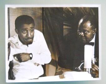 """1966 Sammy Davis, Jr. & Louis Armstrong Still Photograph On The Set Of """"A Man Called Adam"""""""
