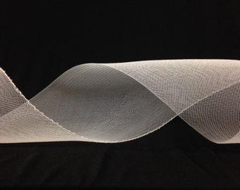 White Stiff Crin/Crinoline/Horsehair Trim in various widths