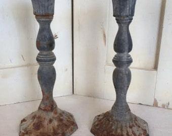 Vintage metal candlesticks