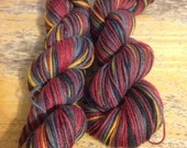 Cascade Yarns SASSY STRIPES SOCK Yarn in Red Black and Gold