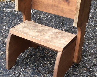 CHILD FOLDING CHAIR // Step Stool // Foot Stool // Vintage // Mid Century // Heavy and Sturdy // Plant Stand