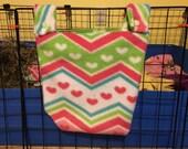 Hay bag, Guinea pig hay bag, guinea pig fleece, hay holder, fleece cage accessories, hay holder, food holder, C&C cage