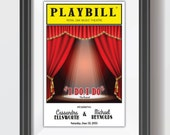 PLAYBILL theater personalized keepsake FRAMEABLE printed for you NY Broadway