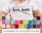 Funny Harry Potter Auntie Onesie - Accio Auntie - Funny Harry Potter Onesies - Baby Clothes from Aunt