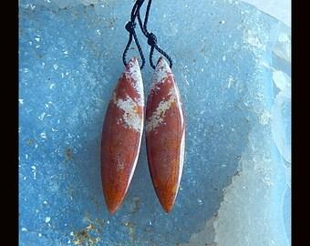 New,Ocean Jasper Earring Bead,39x10x5mm,5.8g