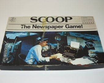 Scoop - The Newspaper Board Game - Vintage 1976 - by Leisure Home Parties - Ultra Rare