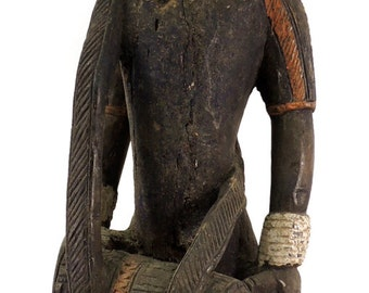 Yoruba Figure Colonial Drummer Ivory Coast African Art 96785