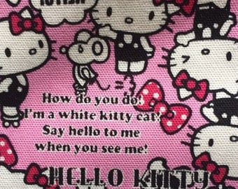 One yard Hello kitty cotton fabric pink colour