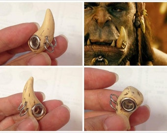 GUO GUO'S-  Warcraft Inspired Tooth European style large Hole Bead Charm / Made to order