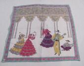 Beautiful Made in France Vintage Hankie Handkerchief - Unused New