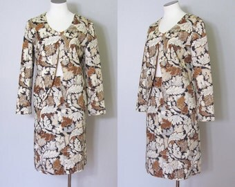 Vintage 1960s 1970s Arpeja Young Edwardian Two Piece Fall Autumn Suit. 60s 70s Skirt Suit Jacket. Size Small