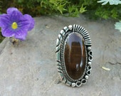 RESERVED   Holbrook Petrified Wood Cabochon custom made into a ring