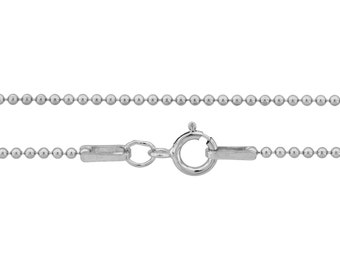 Ball Chain with clasp Sterling Silver 1.2mm 18 Inch  - 25pcs Discounted Price (3102)/25