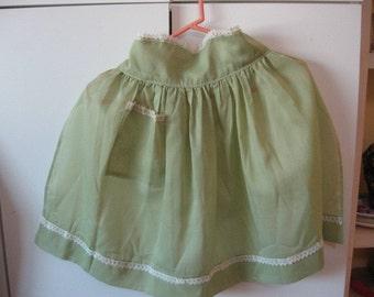Handmade voile apron