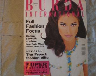 Spring 1996 BURDA International Fashion Magazine with sewing patterns