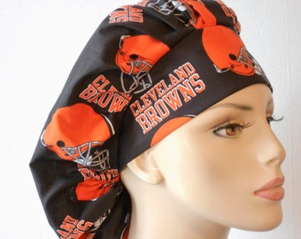 Womens Bouffant Surgical Scrub Hat Cleveland Browns NFL Sports USA