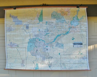 Vintage Large Sacramento Map - Flat Panel TV cover