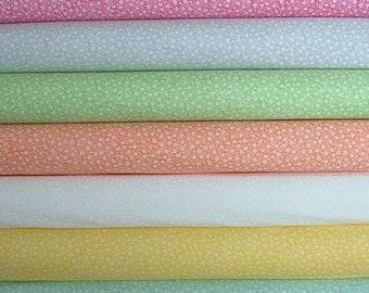 Bundle of 7 Fat Quarters from the Sew & Sew Collection by Chloes Closet for Moda