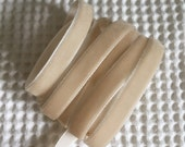 3 Yards Beige Velvet Ribbon 3/8 inch - 26