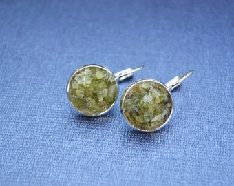 Peridot Dangle Earrings, Silver Peridot Earrings