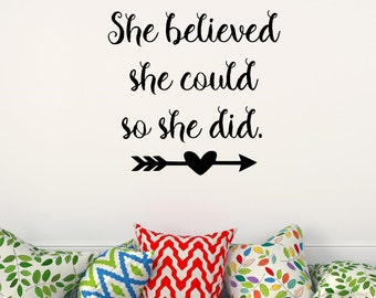 Life Quote Wall Stickers Simple Inspirational Quotes Wall Decals  Etsy