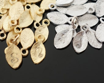 ADD a Letter - Add an Initial Leaf Charm - Personalize Your Gift - Personalize Any Item You Order with a Custom Initial