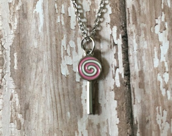 Adorable lollipop necklace