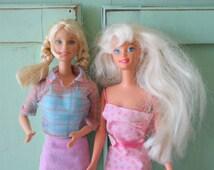 1960s Vintage BARBIE DOLL Set.1966 barbie. kitsch. retro. girls. kids. collectible. barbie. vintage doll. little girls. birthday gifts. pink