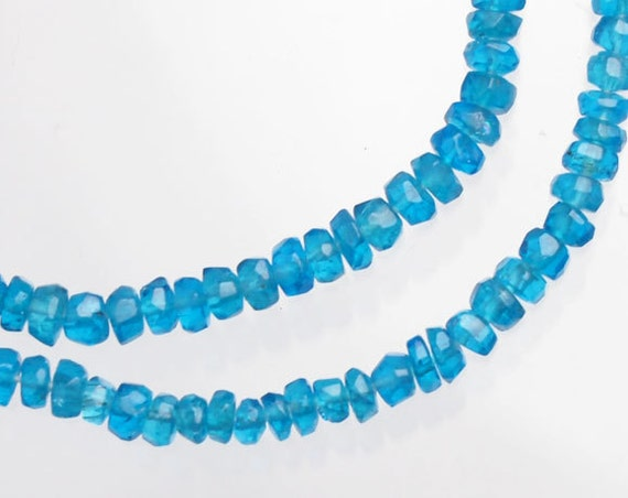 100 Apatite Faceted Rondelle Beads 2.2mm. :gs6723