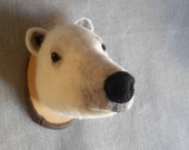 needlefelted Polar Bear style fake taxidermy by felt factory/faux fauna