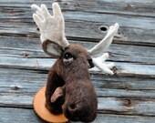 ON SALE Needlefelted miniature moose